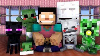 Monster School : BABY MONSTER - Minecraft Animation