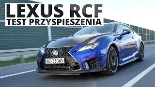 Lexus RCF 5.0 V8 464 KM (AT) - acceleration 0-100 km/h