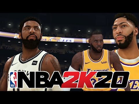NBA 2K20 LOS ANGELES LAKERS VS BROOKLYN NETS FULL GAME UPDATED ROSTERS GAMEPLAY CONCEPT