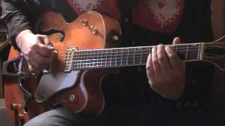 """Hound dog"" Rockabilly guitar solo in style of Scotty moore. Key in..."