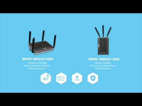 Billion 3G/4G LTE VDSL2/ADSL2+ VPN Firewall Router - BiPAC 8900AX Series (Available In AU)