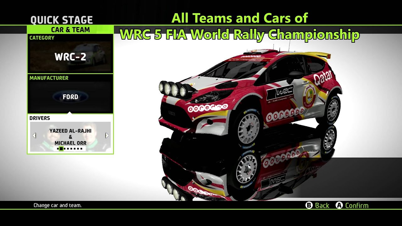 All Cars and Teams of WRC 5 FIA Rally Championship - YouTube