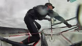 BLAZE SAILING | Windy Gybing Practice 2