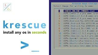 Krescue - Online OS Installation