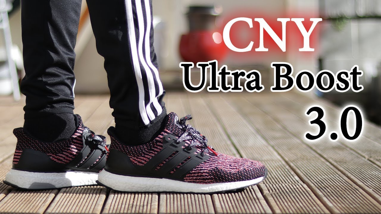 49e71d661d7ec ... authentic adidas ultra boost 3.0 chinese new year on feet and close up  with different pants