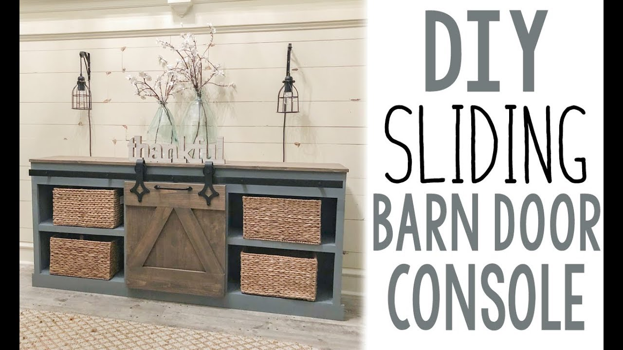 Diy Sliding Barn Door Console Youtube
