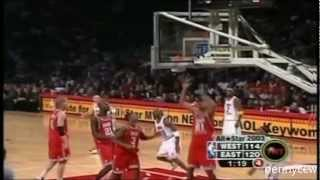 allen iverson and michael jordan highlight 2003 nba all star game mj last all star moments