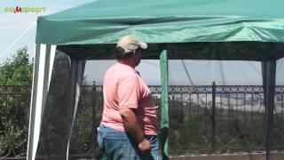 Обзор тента шатра с москитной сеткой
