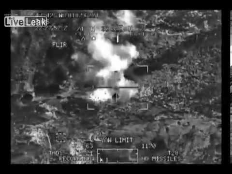 LIVE LEAK - US Apaches KILL Multiple TALIBAN Insurgents near Afghan Pakistan Border - NEW 2013 RARE