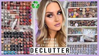 DECLUTTER! ♻️ lipsticks, eyeshadows, glitters & more 💕 HUGE MAKEUP ORGANISATION 2020