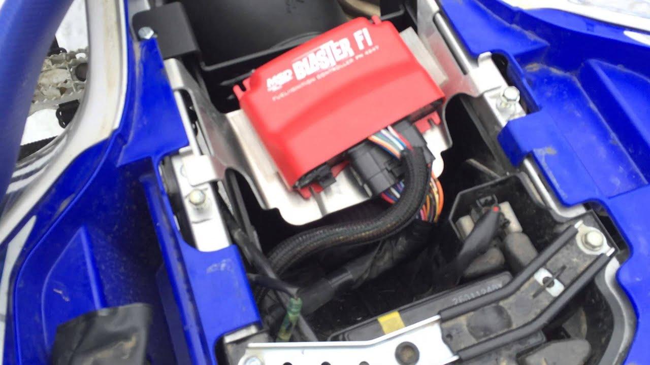 Yamaha Blaster Fuel In Exhaust
