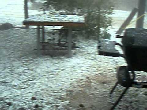 Santo Domingo Pueblo Hail Storm