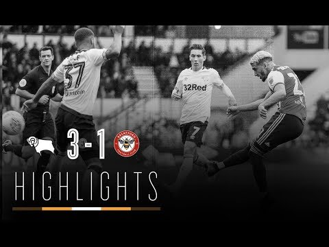 Match Highlights: Derby County 3 Brentford 1