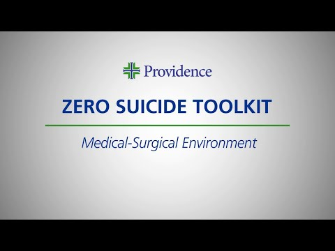 Zero Suicide Toolkit: Medical-Surgical Environment Intro