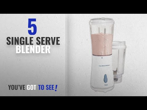 Top 10 Single Serve Blenders [2018]: Hamilton Beach Personal Single Serve Blender with 2 Jars and 2
