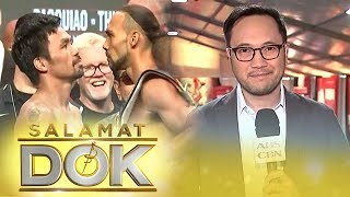 TJ Manotoc gives an update on the match between Manny Pacquiao and Keith Thurman | Salamat Dok