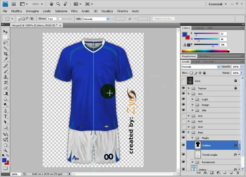 447104d0f Kit Design - Creare maglie calcio tutorial base pt1 - YouTube