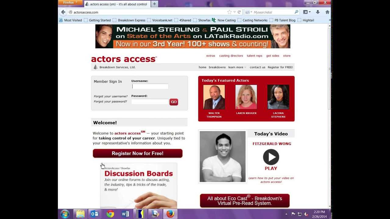 How to Create an Actors Access Profile