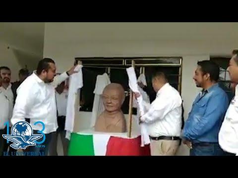 Este es el busto de Benito Ju�rez que causo memes