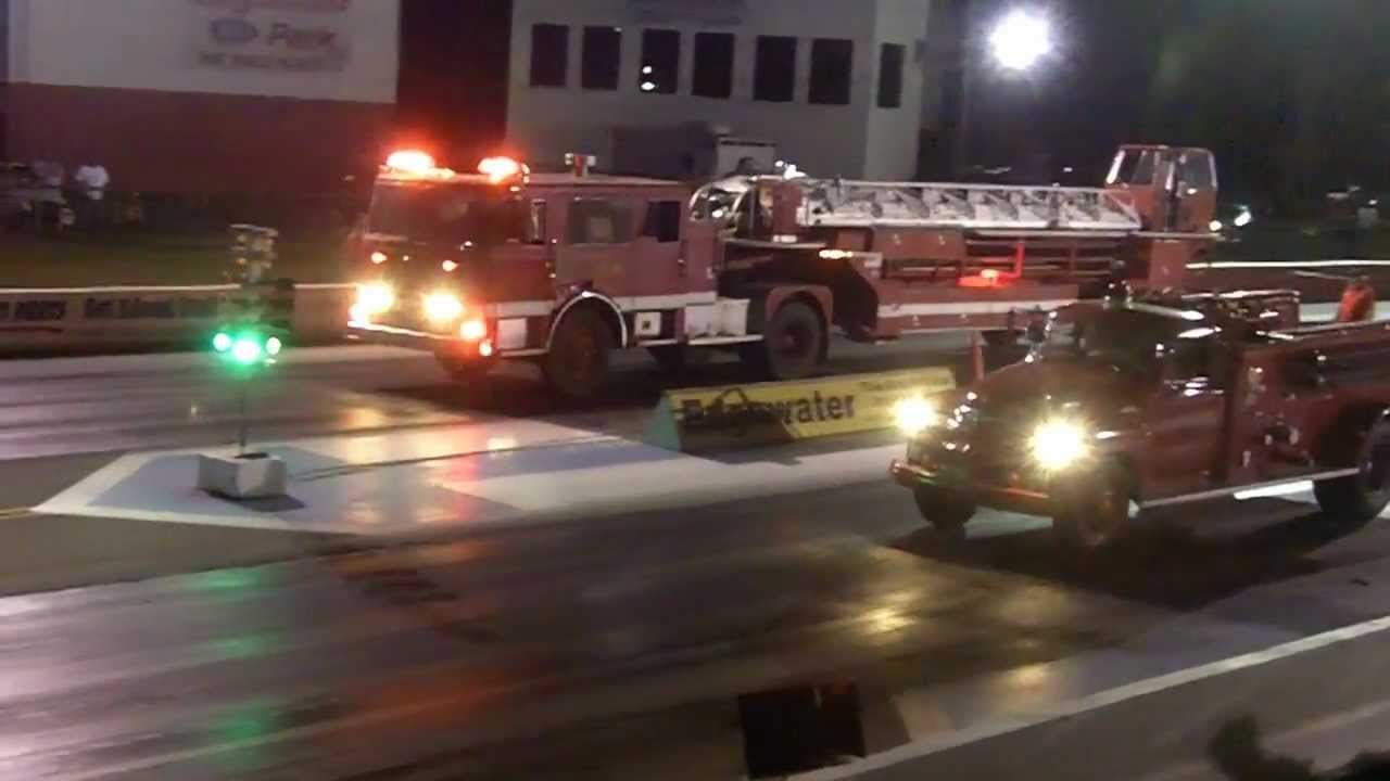 Fire Truck Drag Race
