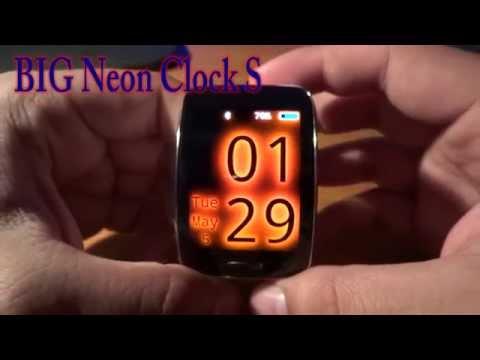 Samsung Gear S --- BIG Neon Clock S