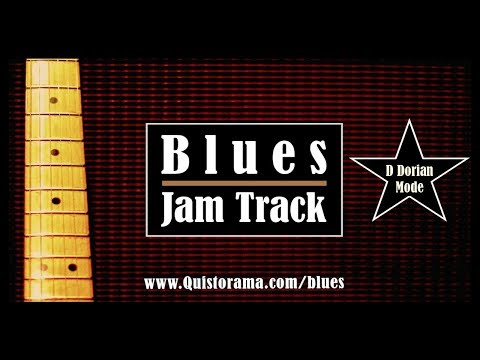 D Dorian Blues  Backing Jam Track
