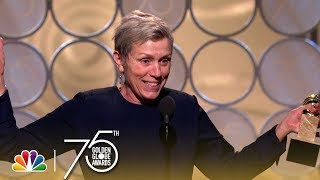 Frances McDormand Wins Best Actress in a Drama at the 2018 Golden Globes