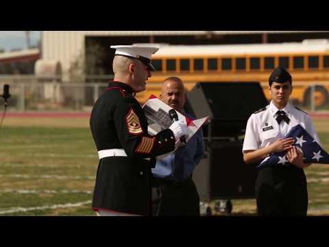 Battle Color Detachment Performance at Calipatria High School
