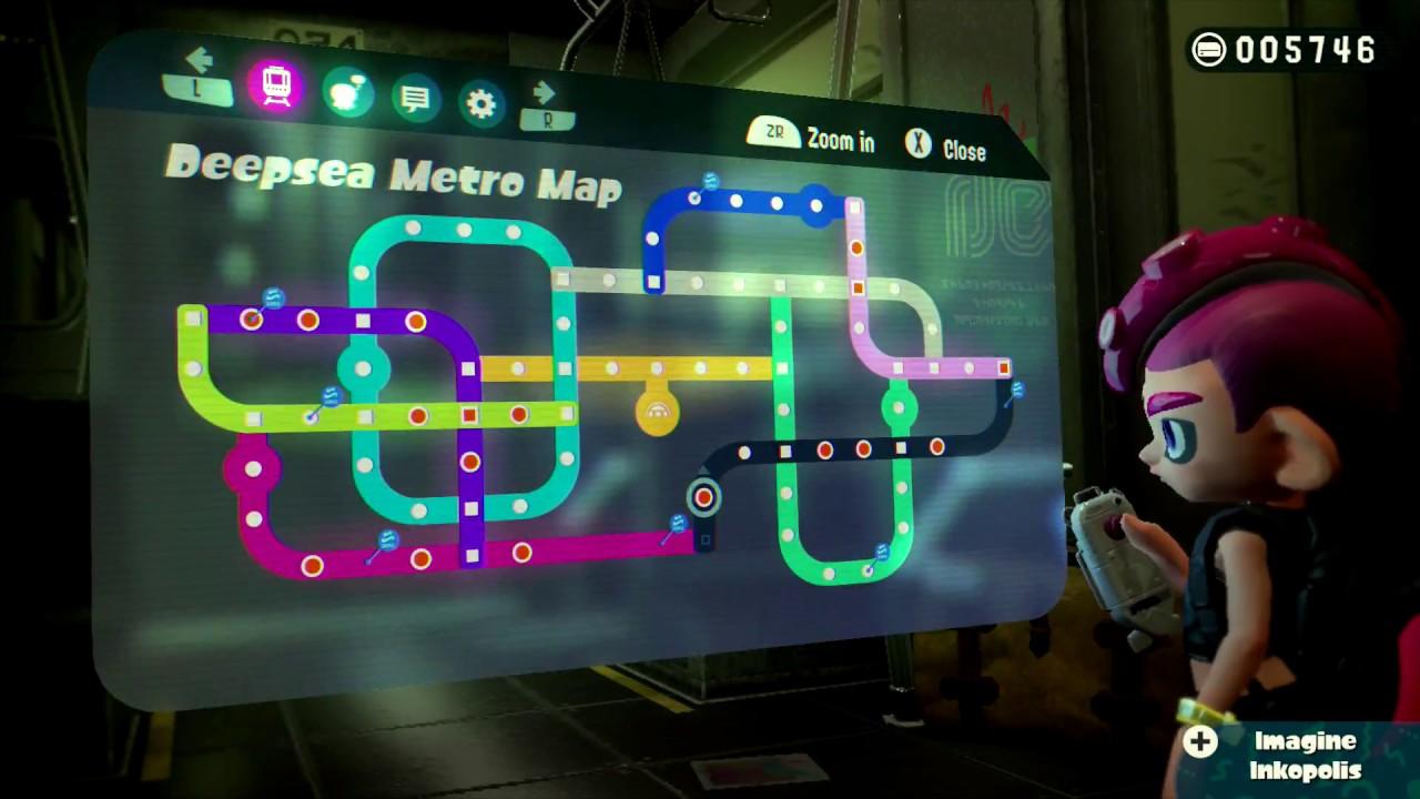 Splatoon 2 Octo Expansion Subway Map.Splatoon 2 Octo Expansion 100 Livestream Part 1