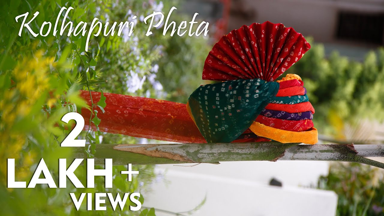 How to wear Kolhapuri / Maharashtrian Pheta (Turban)