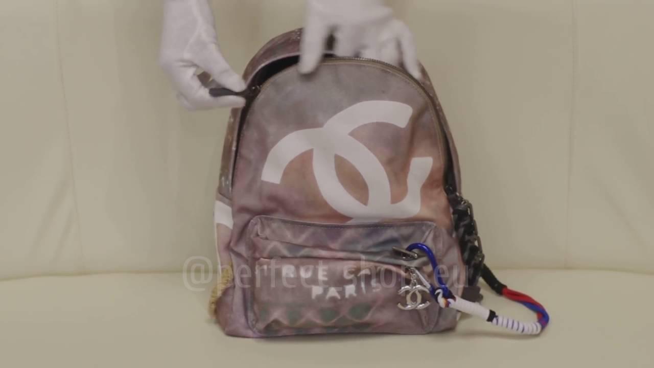 14e9719186f5 Chanel Graffiti Backpack EU - YouTube
