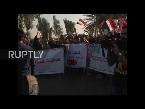 Iraq: Dozens protest in Baghdad against Turkey's military intervention