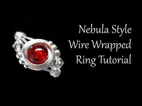 How To Make A Wire Wrapped Swirl Ring With Central Bead - Beginner Tutorial