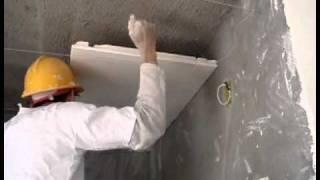 Armazem do Gesso - Preparando e aplicando gesso no teto 2