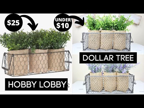 Dollar Tree DUPE | Hobby Lobby Basket | Dollar Tree DIY 2020
