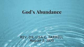 God's Abundance   August 2