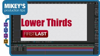 Dynamic lower thirds in After Effects CC