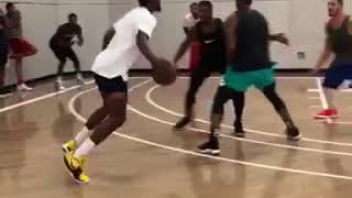 Cj McCullom JR Smith and Carmelo Anthony play pick up against each other