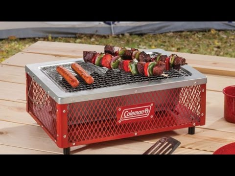 Charming Unboxing Reveal Coleman Tabletop Charcoal Grill