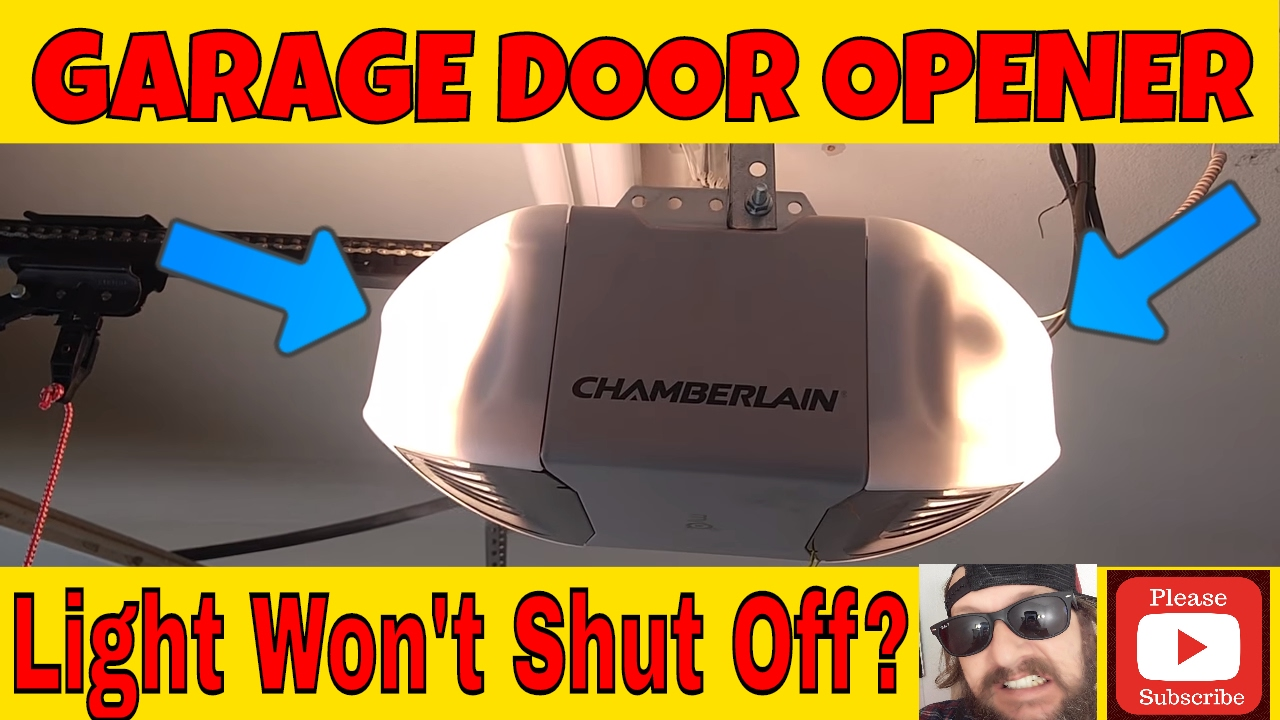 Chamberlain Lift Master Garage Door Opener Lights Stay On