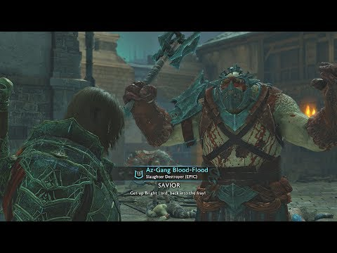 Shadow of War - DLC Follower Saves Me From Dying & Kills 2 Bosses + DLC Blood Armor Showcase  