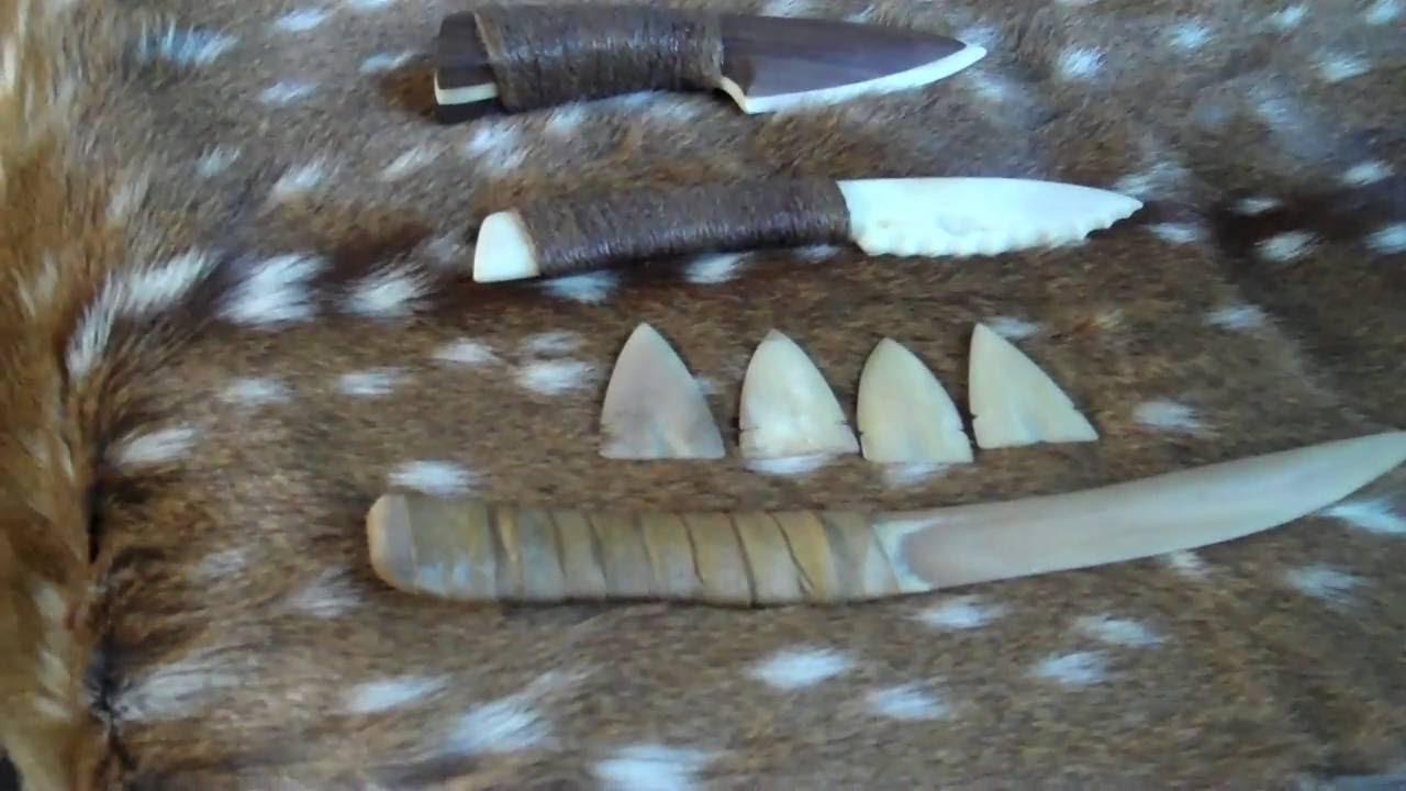 Primitive Knife Primitive Bone Knives And Arrowheads Youtube