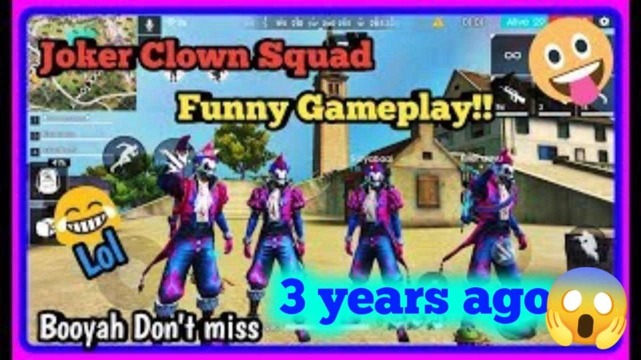 Joker Night Clown Squad Funny Gameplay Freefire Battlegrounds