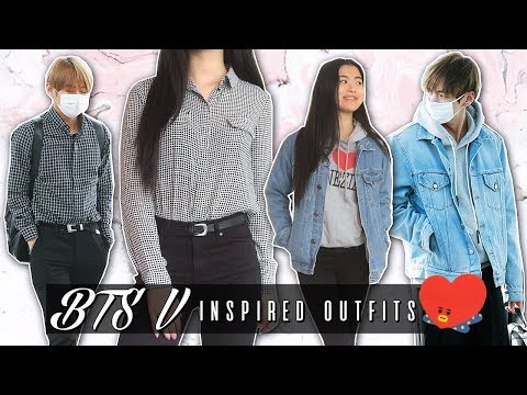 BTS V INSPIRED OUTFITS ♡ Kim Taehyung Airport Fashion Lookbook!
