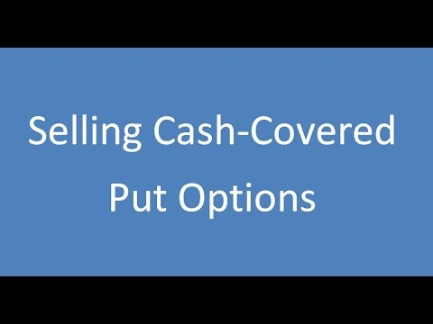 Selling an option and investing the proceeds in the cash