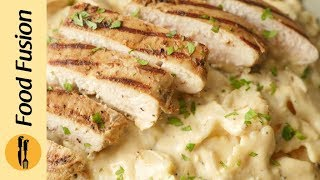 Creamy Mushroom Pasta with chicken Recipe  By Food Fusion