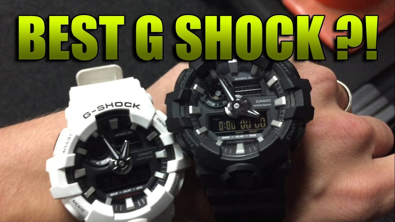 pretty nice 994ce 76ddd Casio G Shock GA-700 - The BEST G Shock ! Black and White Review!