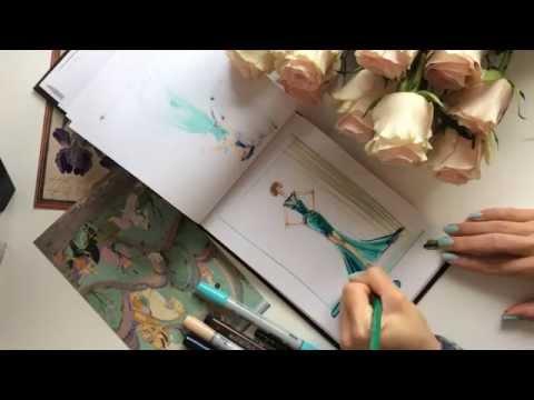 👗FASHION SKETCH: рисую быстрый фэшн скетч маркерами/Quick fashion drawing