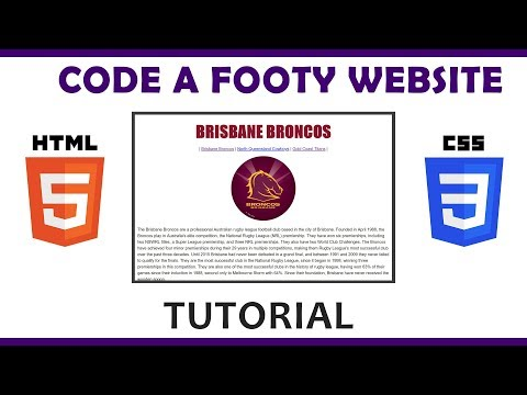 Code A 3 Page Footy Website Using HTML & CSS