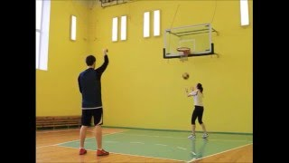 Базовая тренировка - постановка броска в баскетболе (Сидельников - тренер BallGames.ru)